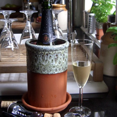 Terracotta Wine Coolers From Weston Mill Pottery